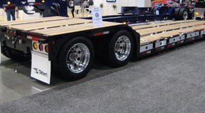 The 35-ton SRG trailer has a 29-foot deck length with a rated 35 tons distributed and 30 tons in each 10 feet of deck length.