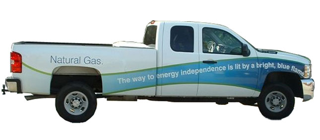 Chevrolet Silverado bi-fueled natural gas pickup
