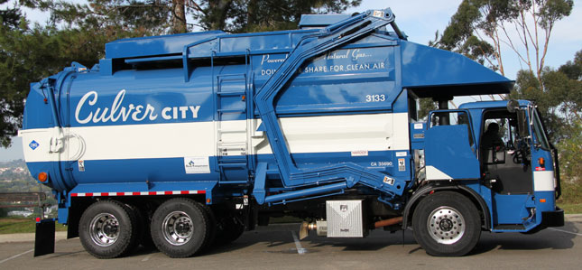 Culver City, Calif., is replacing its original CNG trash collection trucks with new Autocars powered by Cummins Westport ISL-G engines.