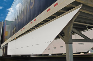 Carrier Transicold's AeroFlex fiberglass trailer side skirts are just one of many trailer innovations.