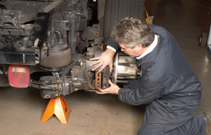 There's always activity in developing new brake friction material. But new legislation and new players are forcing the pace. (Photo by Bendix Spicer Foundation Brake)