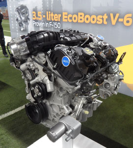 EcoBoost 3.5-liter gasoline V-6 and a naturally aspirated 3.7 V-6 in Ford's upcoming Transit vans will do the work of much larger and heavier V-8 and V-10 engines in current E-series vans. New 3.2-liter I-5 diesel will be optional.