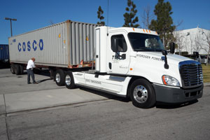 This tractor was built to haul cargo containers to and from ports of Los Angeles and Long Beach, and it does so regularly and reliably, its owner says.