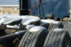Tire casings are inspected and reconditioned before making two, three, or perhaps four journeys down the road of life. (Photo by Jim Park)