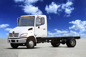 2010 engines push debut of some 2011 trucks well into the new year. Shown is Hino's model 145.