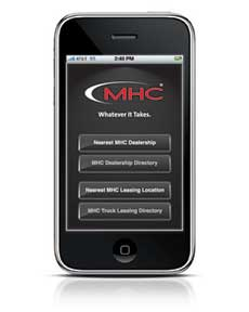 MHC's new app allows customers to find the closest MHC location to their current location or final destination.