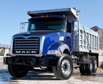 Mack Granite MHD (Medium-Heavy Duty) uses an 8.9-liter Cummins ISL9 for lighter weight and lower cost.