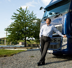 Mats Franzen at Volvo Trucks looks ahead.