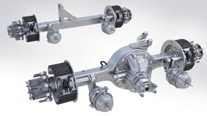 Meritor Solo Series 6x2s use a single drive axle with a