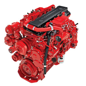 On the Cummins ISX11.9 engine, ratings range from 310-425 horsepower with a maximum 1,650 pounds-feet of peak torque.
