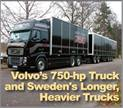 Volvo's 750-Horsepower Truck and Sweden's Longer, Heavier Trucks