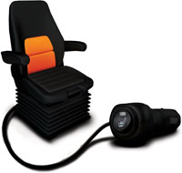 Seats Inc.'s new seat heater is designed for Class 6, 7 and 8 trucks. (Photo courtesy of Seats Inc.)