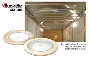 Sky-Lites are designed to let natural light into a trailer. (Photo by Truck-Lite)