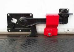 The new Rolling Door Lock secures the roll-up door lever in the locked position.