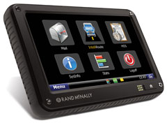 When combined with Rand McNally's mobile communications systems, TruckPC and TND 760 Fleet Edition (above), Rand McNally Connect allows integration between the company's FleetWatcher web portal and third party applications.