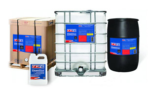 TRP's CleanBlue is available in 2.5-gallon jugs, 55-gallon drums, 275-gallon totes and 300-gallon totes.