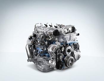 New Mitsubishi Fuso 4P10 high-efficiency, turbocharged diesel engine.