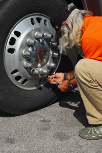 There are still a few drivers out there who care enough to help keep tire costs down.
