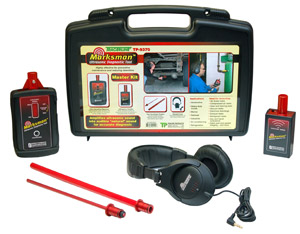 The Marksman Master Kit comes with a receiver, full-sized headphones, two anodized probes and an ultrasonic emitter.