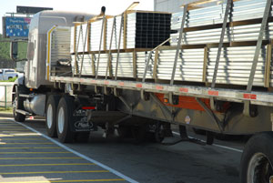 Drilling for oil and natural gas continues to be strong, and items such as steel pipe are filling flatbeds.
