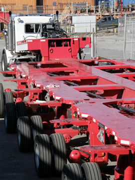 Barnhart introduced WesTrac, a new dual-lane transport system for super heavy loads.