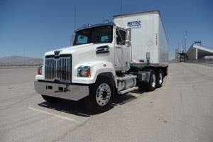 The 4700 series uses the same cab as heavier models but has unique hood and grille stylings. Daycab-only tractors are aimed at local and regional hauling.