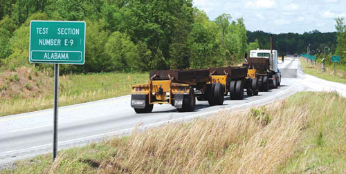 Auburn University has developed a conceptual heavy truck fuel economy rating system at its pavement-testing facility.