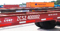 Ten-character alpha-numeric code painted on ocean-container chassis can establish vehicle ownership -- and therefore who should get any ticket for equipment infractions -- if it is in a global registry.