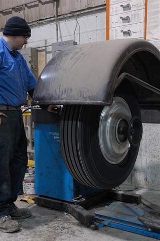 Balancing tires and wheels before they are installed helps ensure a