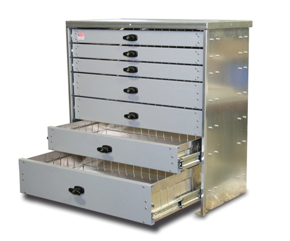 Custom fit to specific vehicle models, the heavy-duty aluminum drawers