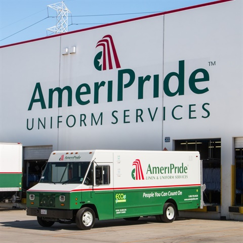 AmeriPride is going electric on its Ford F59-chassis delivery trucks,