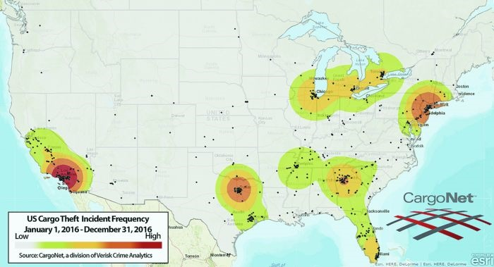 Here's a heat map of the hot zones where various factors