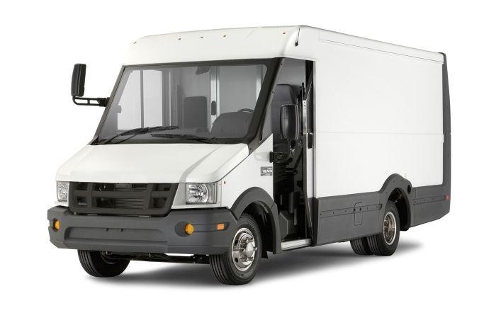 Reach walk-in van has an impact-resistant Utilimaster composite body