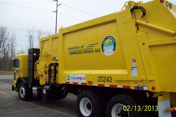 More than half of Columbus's trucks run on alternative fuels,