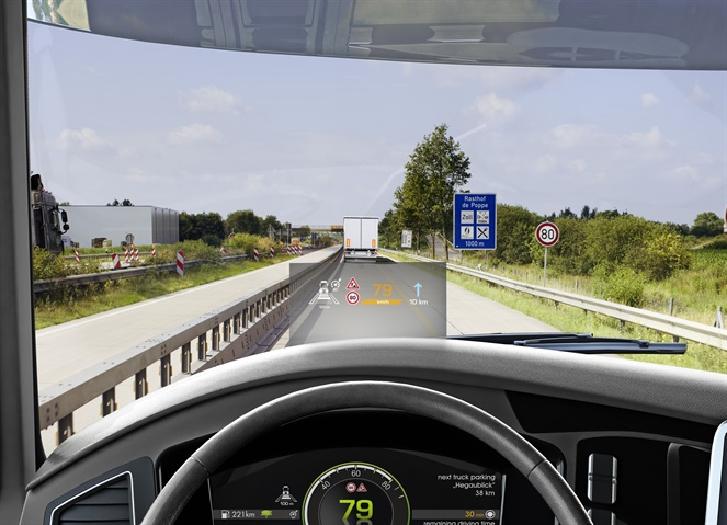Continental s heads-up display shows vital information without the