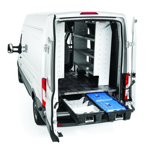Compatible with vertical van racking systems, the DECKED van cargo