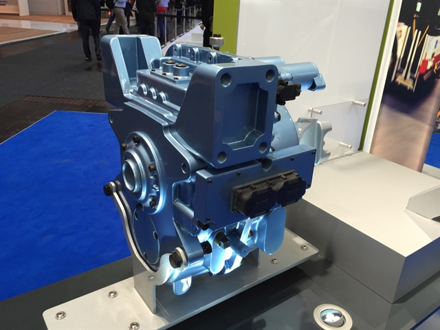 Eaton showed off a four-speed transmission designed for electric
