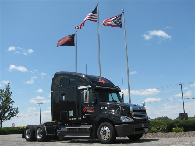 Garner Trucking is testing dual-fuel (CNG-diesel) glider kits, burns