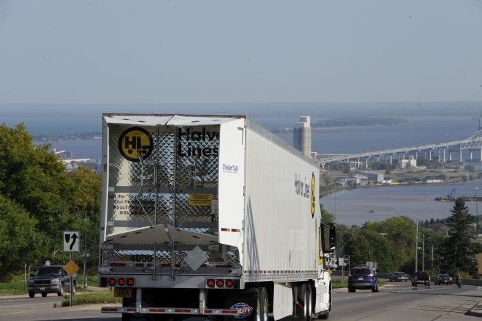 Halvor has invested heavily in trailer aerodynamics, including Stemco