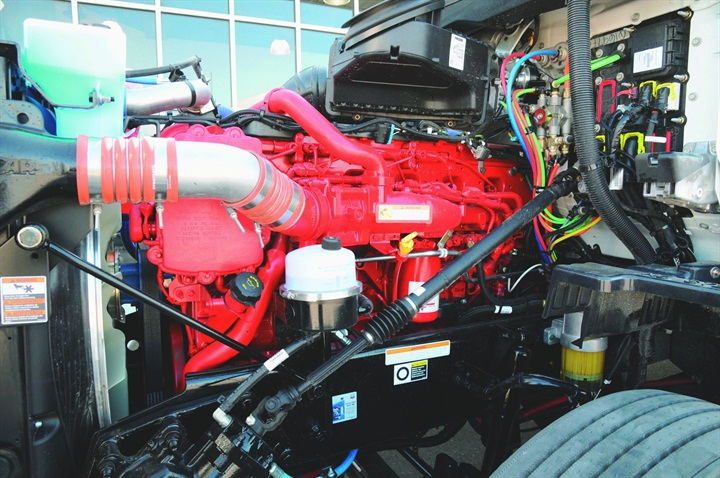 At 450 horsepower, the big-block ISX isn't exactly working up a