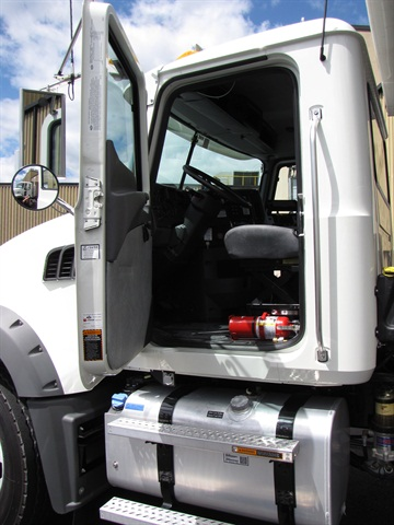 This Granite galvanized steel cab is rugged and roomy. The fuel tank