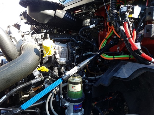 The left side of the engine places all the driver inspection points in