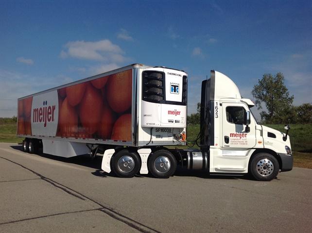 Meijer Logistics runs all SmartWay-compliant tractors and trailers in