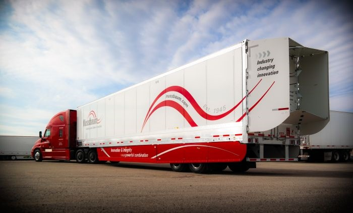This trailer owned by Illinois-based Nussbaum Transportation has both