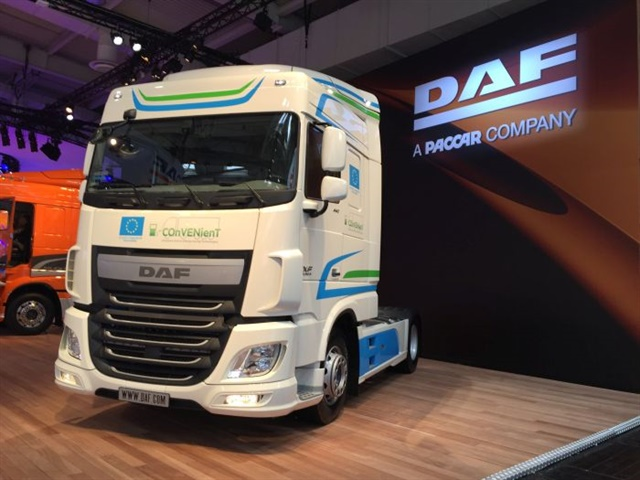 Paccar's ownership of the European truck brand DAF (shown here