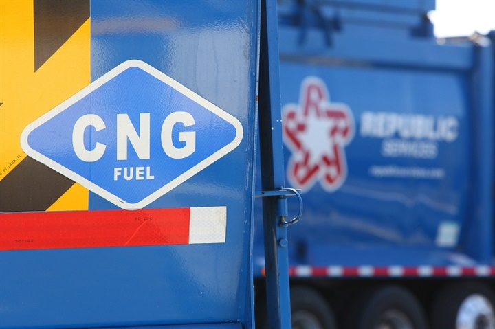 Republic Services collects trash with 2,500 CNG-fueled trucks and the