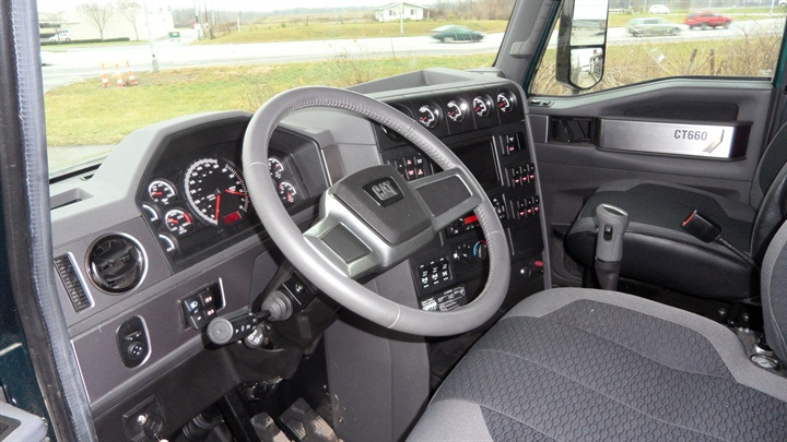 The interior is nicely appointed  with east-to-use controls and