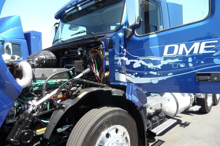 DME engine is based on Volvo D13 diesel. This prototype has