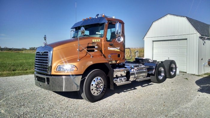 Elvin Knollman began buying Mack mDrives for his tanker fleet in 2011.