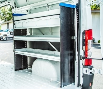 Shelf Staxx is a unique van shelving system constructed of alternative